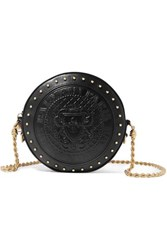 Balmain Disco Studded Leather Shoulder Bag Black