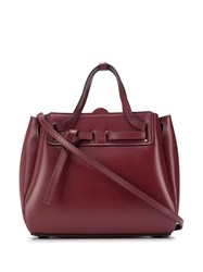 Loewe Mini Lazo Tote Bag Red