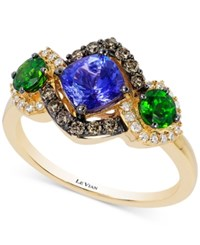 Le Vian Chocolatier Neo Geo Multi Gemstone 1 1 2 Ct. T.W. And Diamond 1 3 Ct. T.W. Ring In 14K Gold