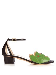 Charlotte Olympia Innocent Block Heel Sandals Black Green