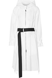 Rag And Bone Neely Cotton Hooded Coat White