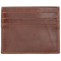 John Lewis Made In Italy Leather Card Holder Brown