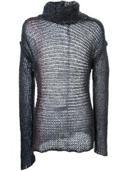 Isabel Benenato Two Tone Jumper Grey