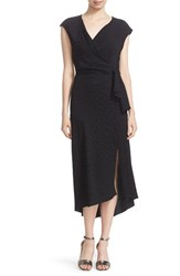 Tracy Reese Women's Cloque Faux Wrap Dress