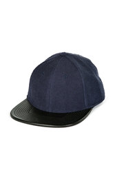 Marc By Marc Jacobs Denim Cap With Leather Brim