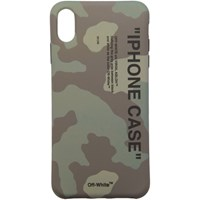 Off White Green Camo Quote Iphone Xs Max Case