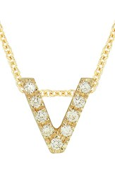 Bony Levy Women's Pave Diamond Initial Pendant Necklace Nordstrom Exclusive Yellow Gold V