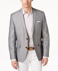 Bar Iii Men's Slim Fit Double Face Light Grey Sport Coat Only At Macy's
