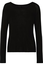 Enza Costa Stretch Jersey Top Black