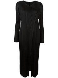 Issey Miyake Pleats Please By Pleated Coat Black