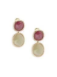 Marco Bicego Sapphire Diamond And 18K Yellow Gold Double Drop Earrings