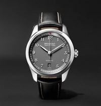 Bremont Airco Mach 2 40Mm Stainless Steel And Leather Watch Black
