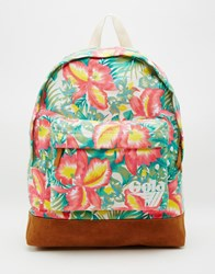 Gola Floral Printed Backpack Off White Tan