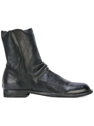 Officine Creative Cordet Zip Ankle Boots Black