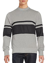 Saks Fifth Avenue Red Cotton And Mesh Sweatshirt Grey Black