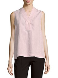 Lafayette 148 New York Dania Sleeveless Linen Blouse Radicchio