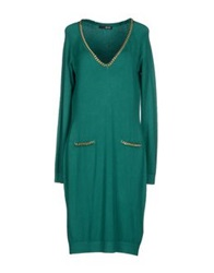 Liu Jo Knee Length Dresses Emerald Green
