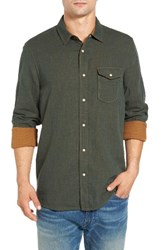Jeremiah Men's Chase Melange Sport Shirt Deep Pine Heather