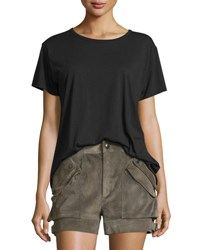 Helmut Lang Open Back Jersey Tee Black