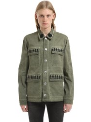 John Richmond Washed Cotton Jacket