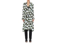 Off White C O Virgil Abloh Women's Floral Satin Robe Coat Black No Color