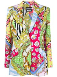 Boutique Moschino Fantasy Print Single Breasted Blazer 60