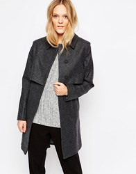 Just Female Norma Coat Antrasit Black