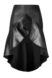 Jitrois Leather Caly Skirt