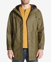 Weatherproof Vintage Men's Hooded Raincoat Created For Macy's Green
