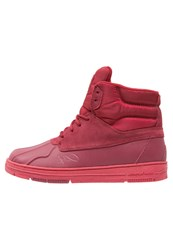K1x Shellduck Hightop Trainers Burgundy Dark Red