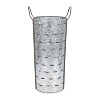 Amara Tall Slotted Galvanised Bucket With Handles