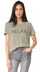 Elizabeth And James Relax Pocket Tee Moss