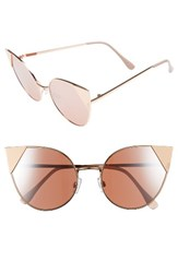 Women's Bp. Super Metal Tip 60Mm Cat Eye Sunglasses Rose Gold