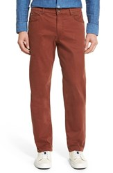 Brax Men's Big And Tall Cooper Stretch Pima Cotton Pants Cognac