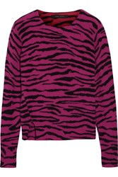 Marc Jacobs Intarsia Cashmere Sweater Magenta