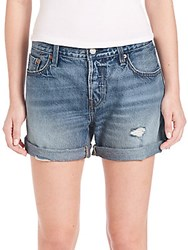 Levi's 501 Distressed Cuffed Selvedge Denim Shorts South Shore