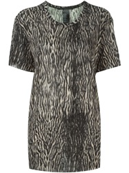 Haider Ackermann Leopard Print T Shirt Nude And Neutrals