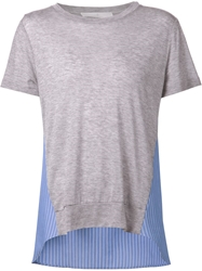 Thakoon Addition Striped Panel T Shirt