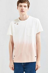 Feathers Dip Dye Destroyed Tee Pink