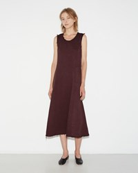 Raquel Allegra Sweep Dress Bordeaux