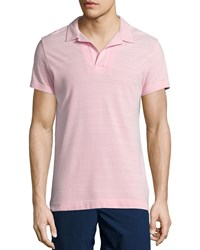 Orlebar Brown Felix Johnny Collar Polo Shirt Pink Size Large