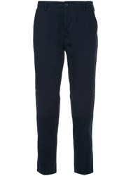 Iceberg Cropped Tapered Trousers Blue