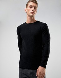 Only And Sons Raw Edge Sweater In 100 Cotton Green