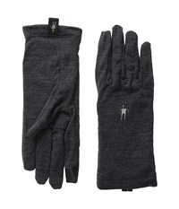 Smartwool Nts Mid 250 Gloves Charcoal Heather Wool Gloves Gray