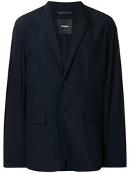 Theory Classic Single Breasted Blazer Blue