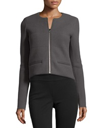 Atm Quilted Cropped Jacket Metal