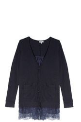 Clu Lace Cardigan Navy