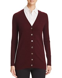 Bloomingdale's C By Grandfather Cashmere Cardigan Marled Cabernet