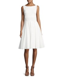 La Petite Robe Di Chiara Boni Doutzen Sleeveless Pleated Cutout Dress White