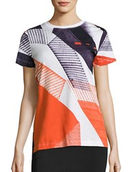 Dkny Neocity Striped Cotton T Shirt Multicolor